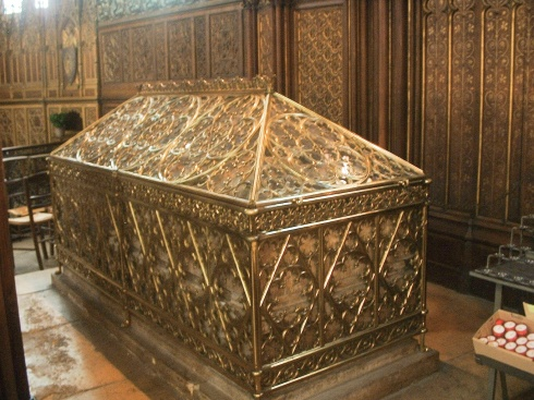 St. Genevieve's tomb in the Church of Saints Peter and Paul in Paris